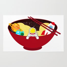 Space Odyssey Ramen | Astronaut Ramen | Bowl of Space Ramen | Galaxy in a Bowl | pulps of wood Rug