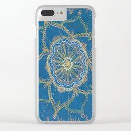Gold, Silver, Bronze Mandala Clear iPhone Case