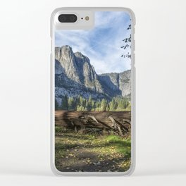 A Fallen Tree in Cook's Meadow Clear iPhone Case