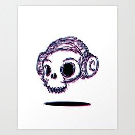 3D Skull Art Print