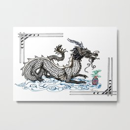 Bonsai Dragon Metal Print