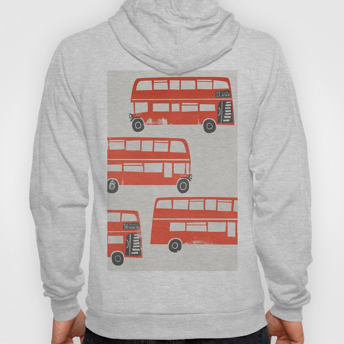 London Double Decker Red Bus Hoody