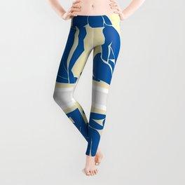 Henri Matisse - Blue Nudes Color Lithographic Collage Cut-Outs Leggings