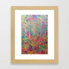 Hipster Forest Framed Art Print