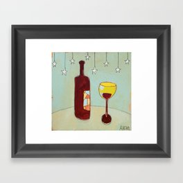 Evening Wine Framed Art Print
