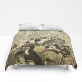 Naturalist Penguin And Puffin Comforters