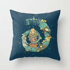 It's Time For A Little Madness Throw Pillow