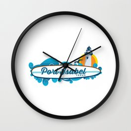 Port Isabel. Wall Clock