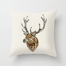 Deer // Animal Poker Throw Pillow
