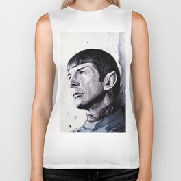 Goodbye Mr. Spock - Leonard Nimoy Biker Tank