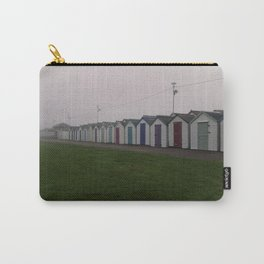 Preston Beach Huts On A Foggy Morning Carry-All Pouch