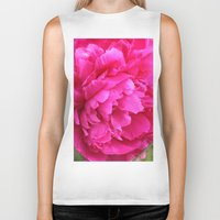 peony Biker Tanks featuring Peony by Stecker Photographie