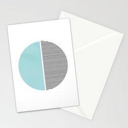 Circle in Aqua Stationery Cards
