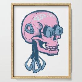 Rock On Skull Serving Tray