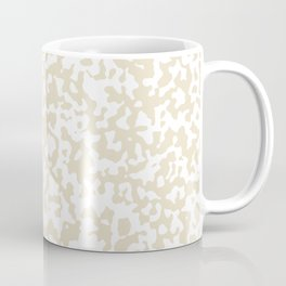 Small Spots - White and Pearl Brown Coffee Mug