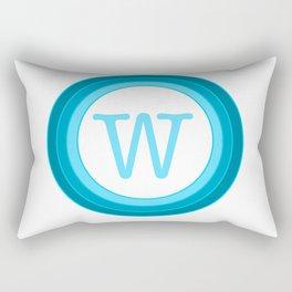 blue letter W Rectangular Pillow