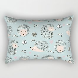So Many Happy Little Hedgehogs To Hug Pattern Rectangular Pillow
