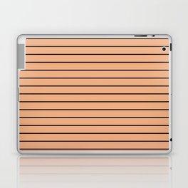 Thin Black Lines On Peach Laptop & iPad Skin