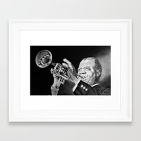 louis armstrong Framed Art Prints featuring Louis Armstrong by Nathalief87