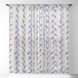Vintage Floral Sheer Curtain