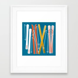 Colorful Ski Pattern Framed Art Print