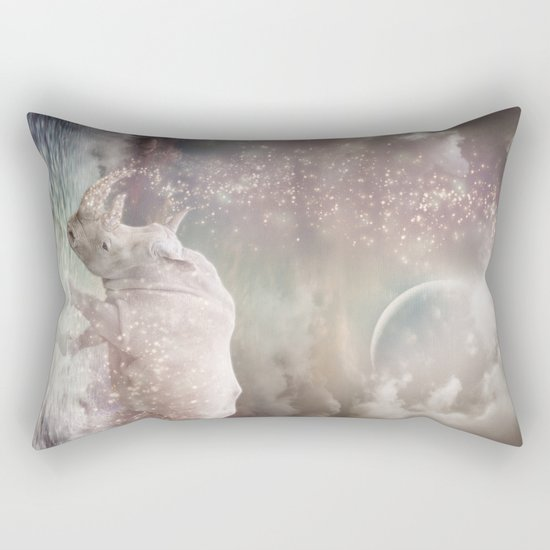The Most Beautiful Have Known Defeat, Suffering, Struggle... (Rhino Dreams)  Rectangular Pillow