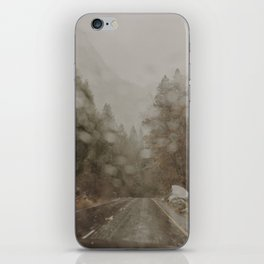 Rainy Forest Drive iPhone Skin