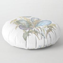 Dandelions watercolor painting Floor Pillow
