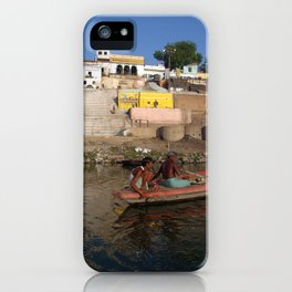 Two Men in a Boat by Nishradraj Ghat iPhone Case
