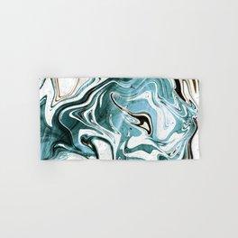 Liquid Teal Marble Hand & Bath Towel