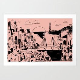 Holy City Heights Art Print