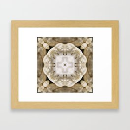 VeggieMandala Cauliflower 3 Framed Art Print