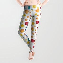 Rainbow Chakra Watercolor Circles Leggings