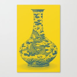 Chinese Chinoiserie Dragon Vase Pottery Series,  No 6 by Adam Asar Canvas Print