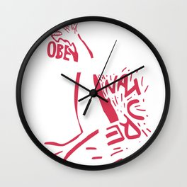 obey nature Wall Clock