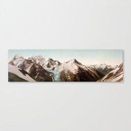 Vintage Mountain Peaks Canvas Print