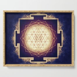 Sri Yantra IX Serving Tray