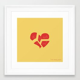 all you need is love* Framed Art Print
