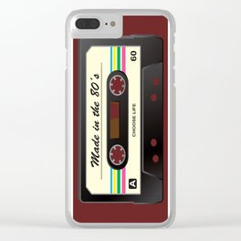 Made in the 80's Clear iPhone Case
