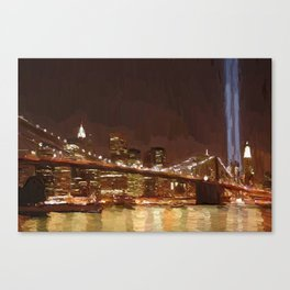 Twin Towers Tribute Canvas Print