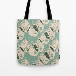 Stencil Faces Tote Bag
