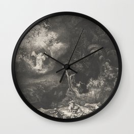 The Angel Appearing to the Shepherds Wall Clock