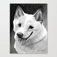 shiba Canvas Prints featuring Shiba-Inu  by Bark Point Studio