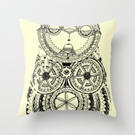 A wise old owl sat on an oak Throw Pillow