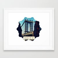 brooklyn Framed Art Prints featuring BROOKLYN by Alexandre Ormond