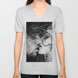 Abstract Ink Kiss Unisex V-Neck