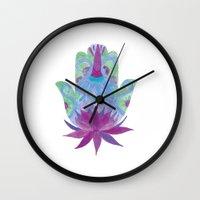hamsa Wall Clocks featuring Hamsa by JuanaViEs