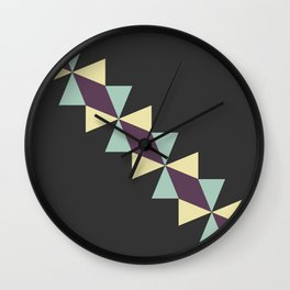 Oragami Traingles Wall Clock