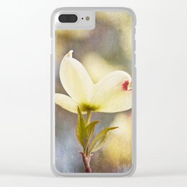 Dogwood Blossom Texture Clear iPhone Case