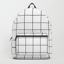 White Grid Backpack